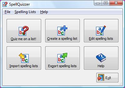 SpellQuizzer Spelling List